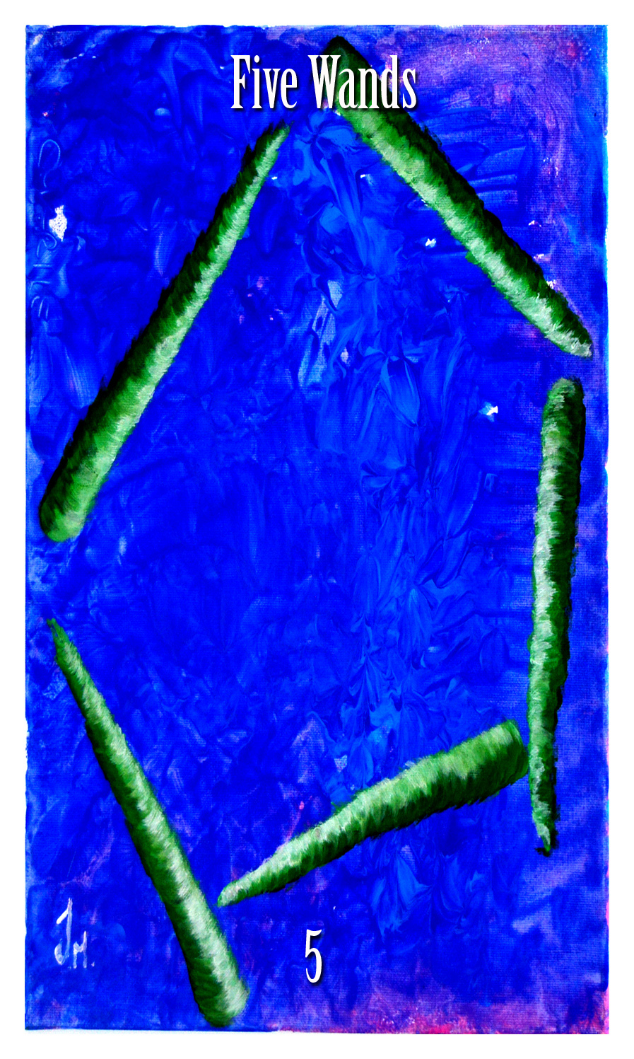 five of wands. Initiates Way Tarot
