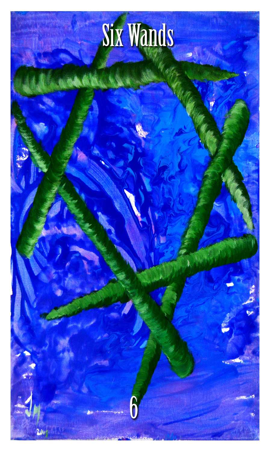 six of wands. Initiates Way tarot.