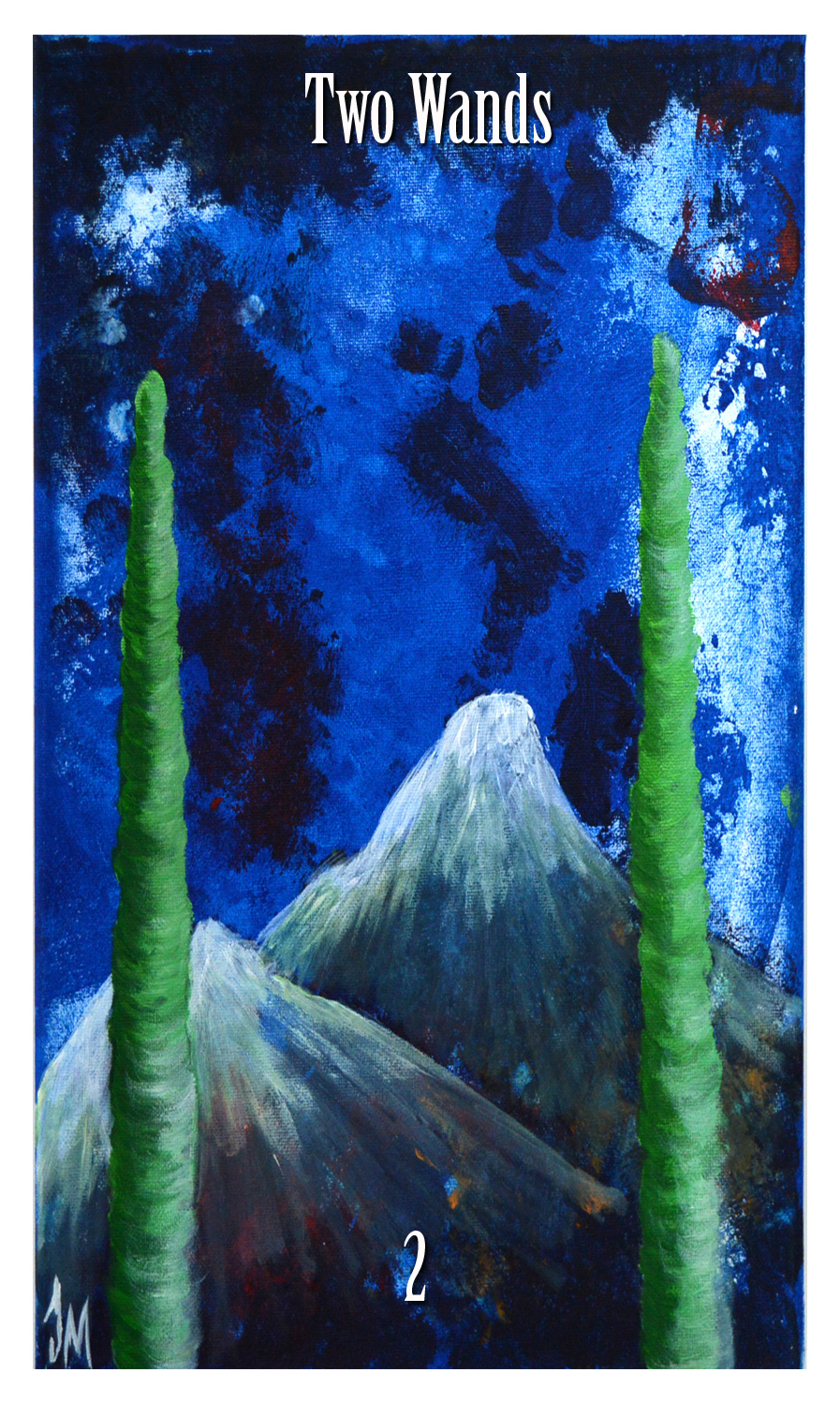 2 of wands initiates way tarot jade m