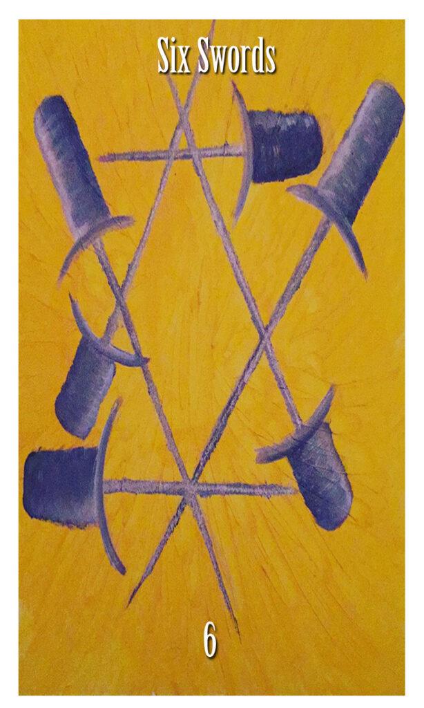 six swords tarot card