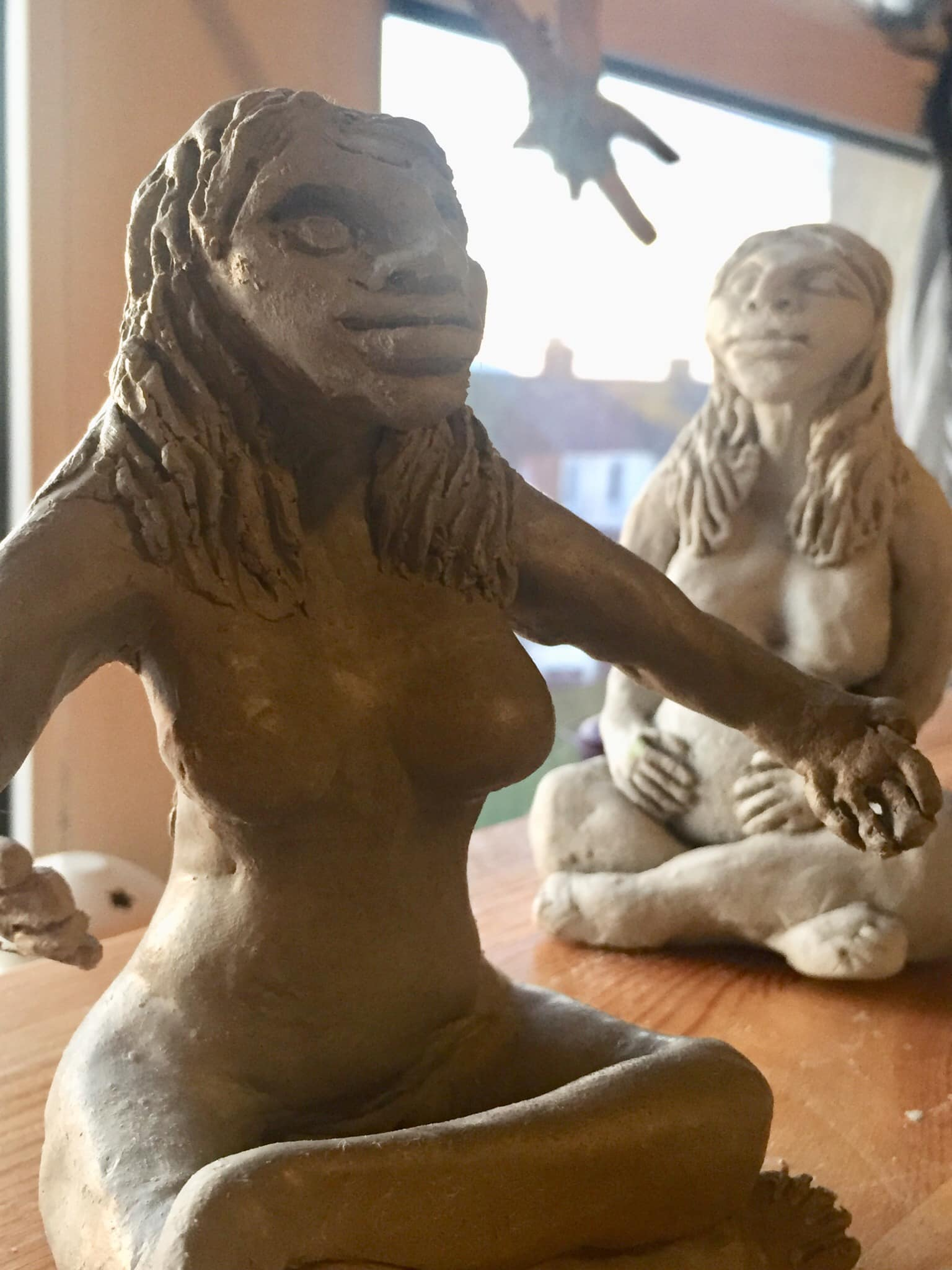 Clay Gods and Goddesses emerging with the spring tide.