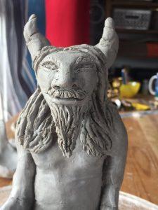 Clay God commission by Jade Melany